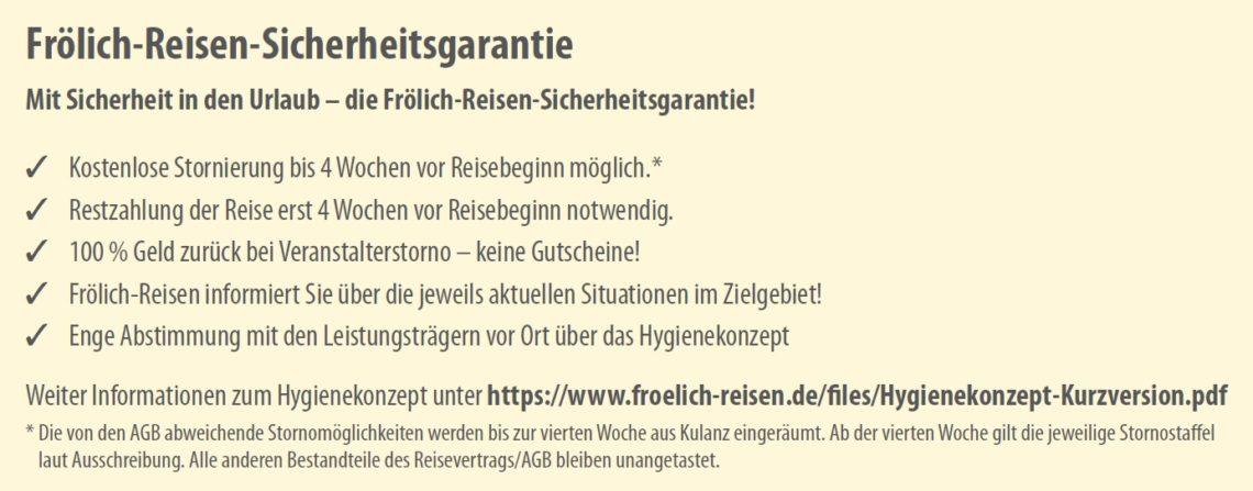 Frölich-Reisen-Sicherheitsgarantie