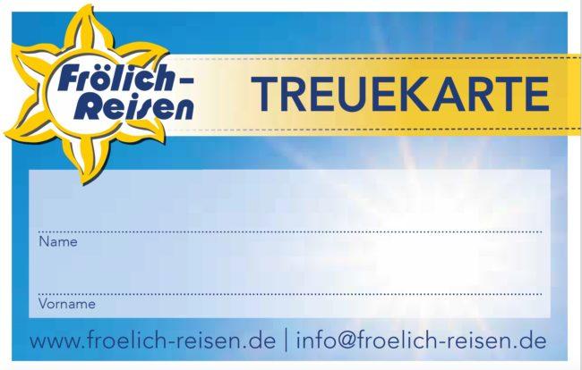 Treuekarte Frölich-Reisen Stammkunden
